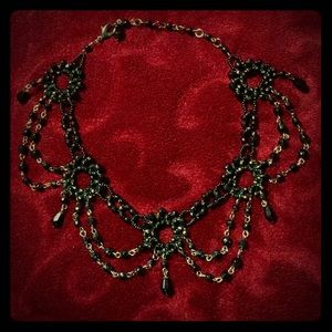 Gothic Black Chandelier Necklace 🖤